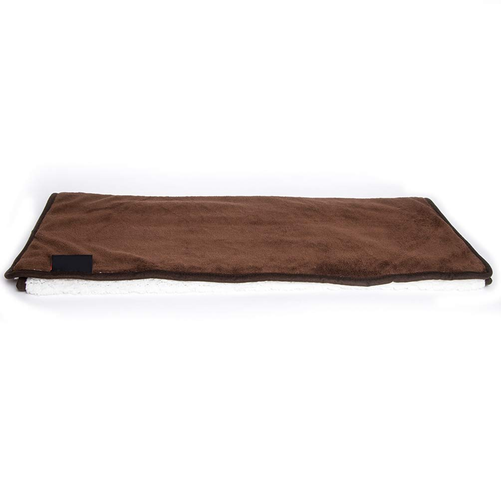 Brown XL Brown XL Jim Hugh Dog Cat Pet Soft Beds Blankets Coral Fleece Dogs Breathable Bed Mats Used for Pets Dogs Rest and Sleep Solid Dog Bed Mat