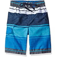Kanu Surf Baby Boys' Toddler Impact Stripe Swim Trunk