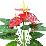 USRENZAOHUA-1Pc-Best-Quality-18Heads-5-Anthurium-Decorative-FlowersWreaths-Artificial-Flowers-No-Vase-Pot-Plants-Home-Office-Party-Decor