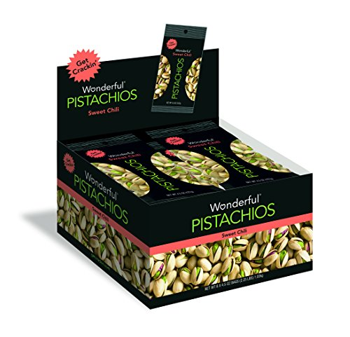 - Wonderful Pistachios, Sweet Chili Flavored, 4.5 Ounce Bag (Pack of 8)