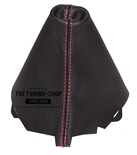 The Tuning-Shop Ltd Fits Audi A5 S5 2007-2015 Shift Boot Custom Made Shift Boot Black Genuine Italian Leather With Red (Audi A5 Tuning)