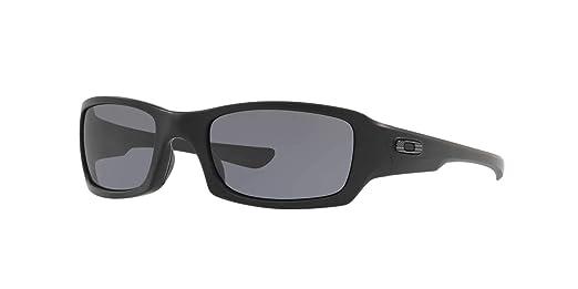 a400044cfe Amazon.com  Oakley Fives Squared Sunglasses Matte Black   Flag   009238-33   Clothing