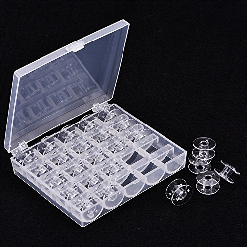 Mudder Plastic Sewing machines Bobbins by safe-keeping predicament for Brother Janome Singer Elna Sewing machines Transparent 25 Pieces Bobbins