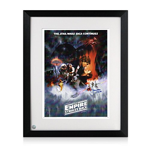 Framed Boba Fett Signed Empire Strikes Back Poster (Blue Signature) | Star Wars Memorabilia