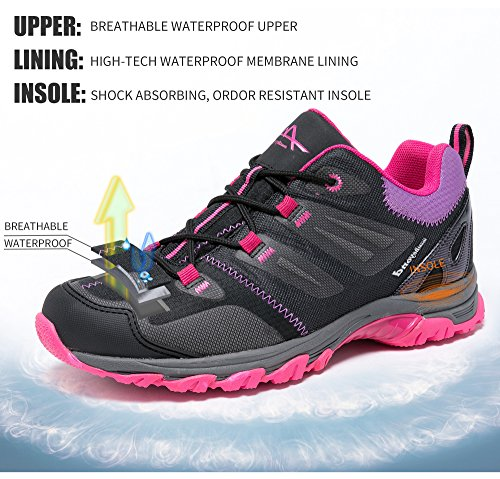 Image of Mountbeyond Womens Waterproof Hiking Shoes Outdoor Breathable