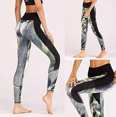 ACEBABY Pantalones Yoga Mujer Cinta Reflectante Transpirable ...