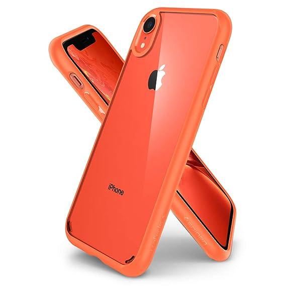 half off 62f32 a4ab3 Spigen Ultra Hybrid Designed for Apple iPhone XR Case (2018) - Coral