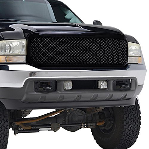 E-Autogrilles Black ABS Replacement Ford Grille Grill With Shell for 99-04 Ford F-250/F-350 Super Duty