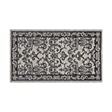 Laura Ashley Halstead Jacquard Chenille 5′ x 8′ Area Rug, Gray Review