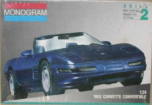 Monogram 2951 1992 Corvette Convertible 1:24 Scale Plastic Model Kit