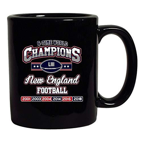 (New World Champion 6-Time New England Football Black Coffee Mug (Black, 11 oz))