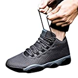 Running Basketball Shoe,Men Net Surface Flat Non-Slip Breathable Lightweight Youth Sports Sneakers Gym Training Shoes Gray