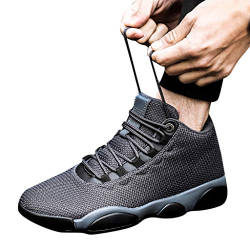 Running Basketball Shoe,Men Net Surface Flat Non-Slip Breathable Lightweight Youth Sports Sneakers Gym Training Shoes Gray by Hotcl (Image #1)