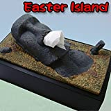 おもしろティッシュケース イースター島のモアイ