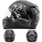 Rockhard Elvis 1968 Full Face Helmet (Black, XX-Large)
