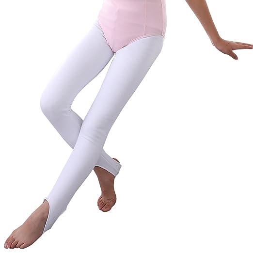 2a67636eff439 Amazon.com: XFentech Girls Dance Ballet Convertible Stretch Leggings ...