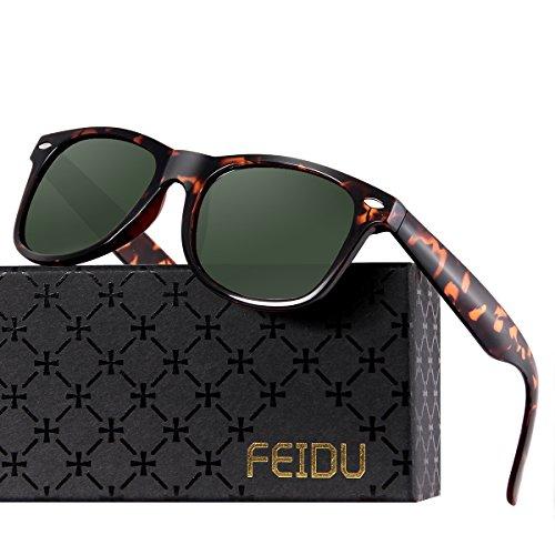 FEIDU Cocoons Fitovers Polarized Sunglasses Aviator (XL) Green/Leopard