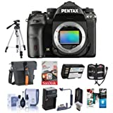 Pentax K-1 Digital SLR Camera Body - Bundle Camera Case, 64GB SDXC Card, Spare Batteries, Tripod, Cleaning Kit, Memory Wallet, Flip Flash Bracket, Compact Charger, Card Reader, Software Package