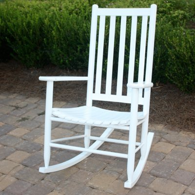 Dixie Seating Company Slat Seat Adult Rocking Chair 143394-OG-47429-O-177600, White