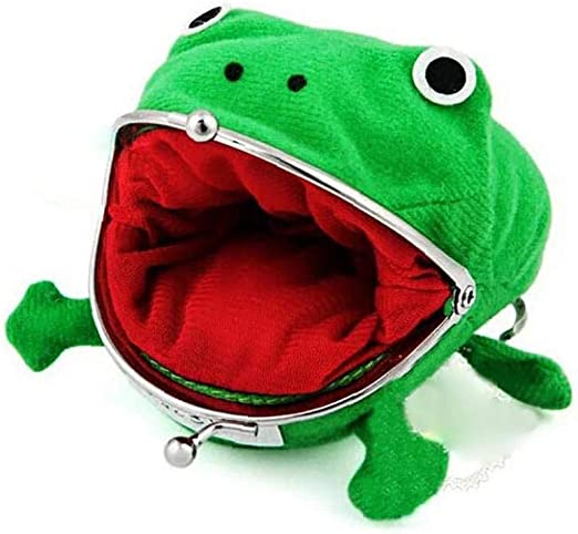 Yililay Cute Frog Coin Wallet Change Pouch Wallet Funny Props Plush Toy