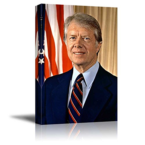 Portrait of President Jimmy Carter - Inspirational Famous People Series | Giclee Print Canvas Wall Art. Ready to Hang - 16