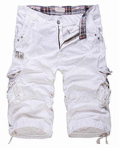 CIC Collection Men's Cotton Cargo Capri Shorts