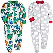 HONGLIN Baby Footed Pajamas Cotton Loose Fit Long Sleeve Toddler Onesies Boy Girl Sleeper
