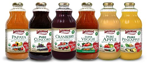 Lakewood Organic All-Star Variety Pack 1, 32-Ounce Bottles (Pack of 6)