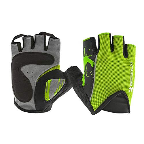 Arrampicata Men Fitness Bike dita Gloves Amdxd Sport Verde Screen Touch Mezza Riding 8RUwq