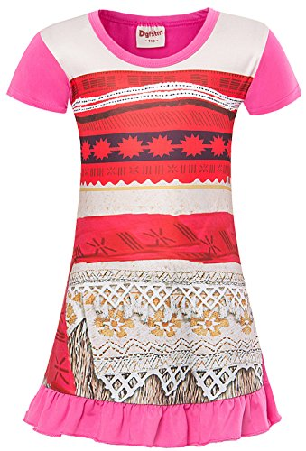 Thing 1 And Thing 2 Costumes For Tweens (Moana Dress Little Girls Adventure Clothes for Toddler Kids Party Princess Skirt Age Size (10 (9-10Years)), Pink))
