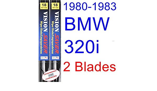 Amazon.com: 1980-1983 BMW 320i Replacement Wiper Blade Set/Kit (Set of 2 Blades) (Saver Automotive Products-Vision Saver) (1981,1982): Automotive