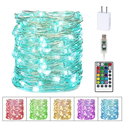 Fairy Lights, Twinkle Lights with Remote, LED Firefly Lights for Bedroom Indoor Christmas Wedding Halloween Costume