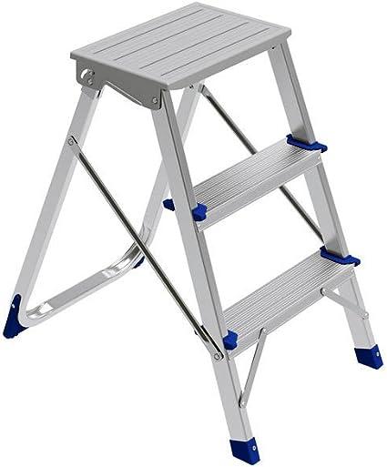 Framar pluma Aluminium taburete aluminio plegable carga máxima 150 kg escalera doméstica 3 peldaños antideslizante seguro compacta ligera: Amazon.es: Oficina y papelería