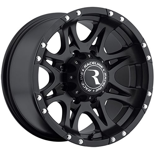 Raceline Raptor 17 Black Wheel / Rim 8x170 with a -12mm Offset and a 130.81 Hub Bore. Partnumber 981-79081