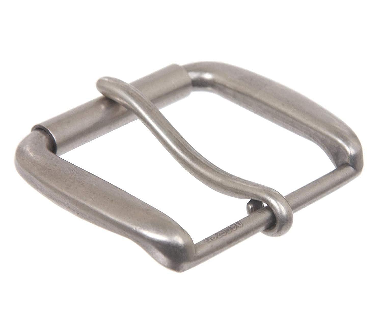 BBBelts Men Antique Silver Zinc Alloy 1 Prong Rectangular Buckle For 1-3//4 Belt