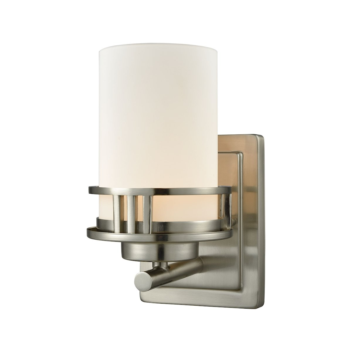 Thomas Lighting CN578172 Ravendale Single Light 5'' Wide Bathroom Sconce with Whi, Brushed Nickel