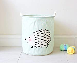 yqs Storage Box Dirty Hamper Basket Dirty Dirty Clothes Hamper Laundry Hampers,Animal Hedgehog Laundry Hampers Fashion Design Thick Large-Capacity Collapsible Storage Bag Durable with Handle Organize