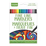 Crayola Fine Line Markers, 12-Count, Classic Colors