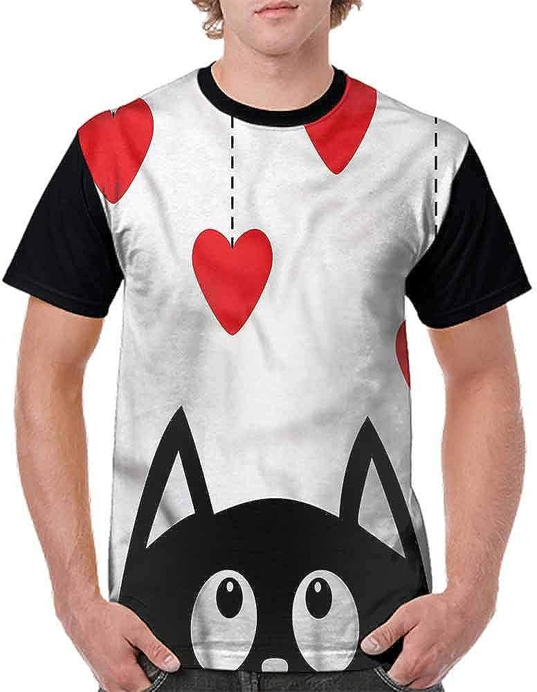 Printed T-Shirt,Funny Cartoon Animal Face Fashion Personality Customization