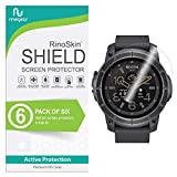 RinoGear Nixon The Mission Screen Protector [6-Pack] Full Coverage Flexible HD Crystal Clear Anti-Bubble Unlimited Replacement Film