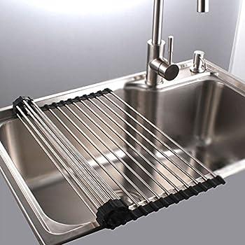 Amazon.com - Dish Rack Sponge Holder Stainless Steel RV