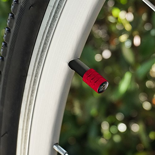 私を買うショット私は結び目を結ぶよBachelorette Bachelor Party Wedding オートバイ自転車バイクタイヤリムホイールアルミバルブステムキャップ - 赤