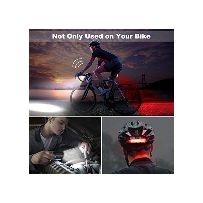 51b3 9EUBwL ? Súper Brillantes y Múltiples Modos - El luces para bicicleta te ofrece una conducción nocturna segura (luz delantera de 300 lúmenes y luz trasera de 100 lúmenes); La luz delantera tiene 3 modos (Alto - Bajo – Flash - Off); Luz trasera con 5 modos (Rojo - Rojo Intermitente - Blanco - Blanco Intermitente - Rojo / Blanco Intermitente - OFF) ? Impermeable IP65 y Libre Campana de Bici - La Luz bicicleta es adecuada para todo tipo de clima, ya sea niebla o lluvia, las luces de bicicleta le proporcionarán luces de visibilidad para mayor seguridad y protección en condiciones meteorológicas adversas. La luz de bicicleta viene con un cuerno libre - 120 dB hace que su viaje sea más seguro. ? Recargable USB y Carga Inteligente - la batería de litio del interior (1200 mAH) se puede cargar por completo rápidamente en 2 horas, simplemente con un cargador USB, una PC o cualquier puerto USB. El sistema de apagado automático y completamente cargado garantiza la seguridad y una mayor duración de la batería.