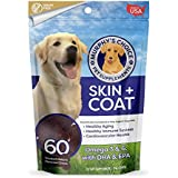 Murphy's Choice Skin + Coat Omega 3 Fish Oil Supplement Chews for Dogs - For Shiny Coats & Itch Free Skin - Contains Omega 3 & 6 Fatty Acids, EPA & DHA - 60 Smoked Hickory Flavored Chews - Made in USA