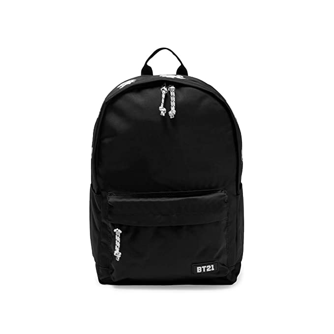 BT21 Official Merchandise by Line Friends - 2Way Backpack, Black
