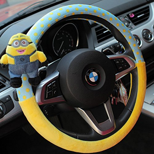 Finex Auto Despicable Me 2 Minion Car Steering Wheel Cover