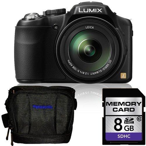 Panasonic Lumix FZ200 Digital Camera + Panasonic Deluxe Carrying Case & 8GB SDHC Class 10 Memory Card (Panasonic Lumix Dmc Fz100 compare prices)