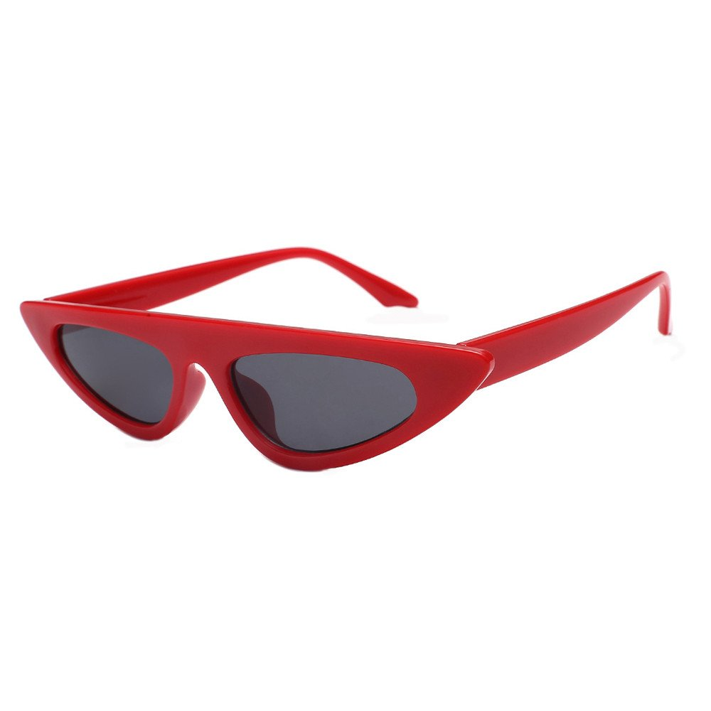 c21b732e486 Women Fashion Unisex Cat Eye Shades Sunglasses Integrated UV Glasses Black  at Amazon Women s Clothing store