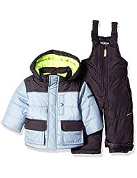 OshKosh baby-boys Baby Boys Grey Infant Boys Hw Snowsuit B2176s47