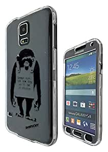 c0068 - Banksy Grafitti Art Monkey Laugh Now Design Samsung Galaxy S5 Mini Fashion Trend CASE Full COVER Front And Back Full Protective Case Cover